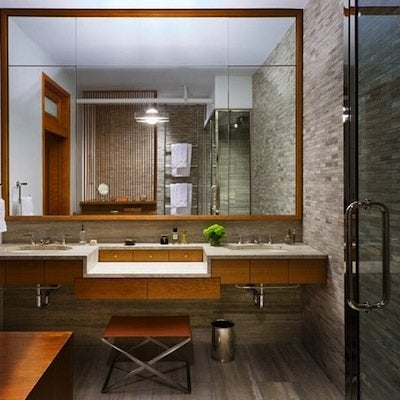 modern loft apartment bathroom