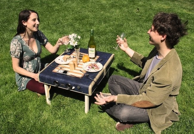 DIY Picnic Table - Suitcase