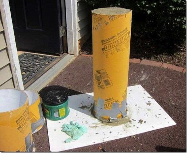 Molding concrete for DIY concrete candle holder