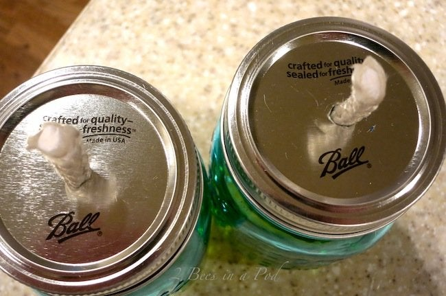 DIY Citronella Candle - Finished Pair