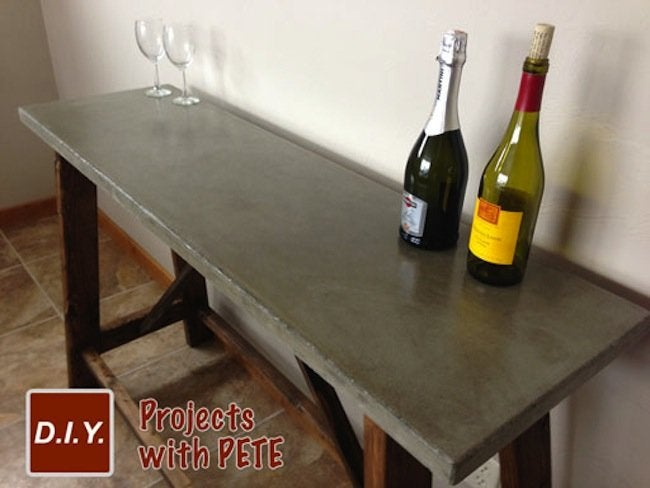 DIY Concrete Table Finished