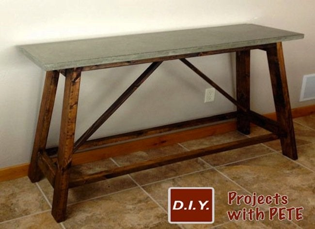Finished DIY Concrete Table
