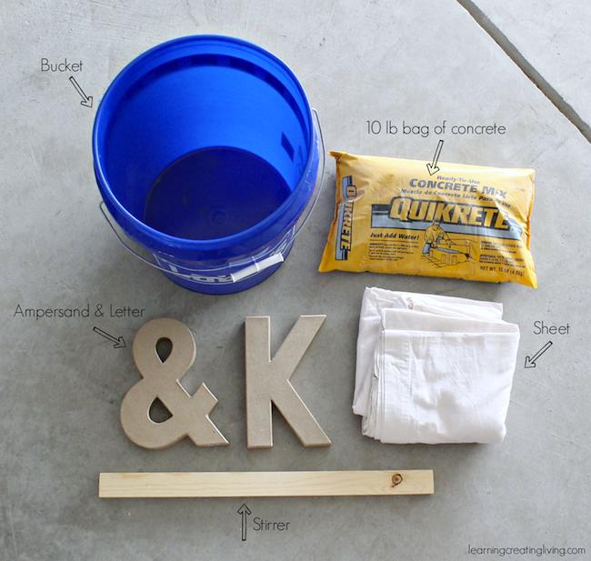 DIY Concrete Letters Materials
