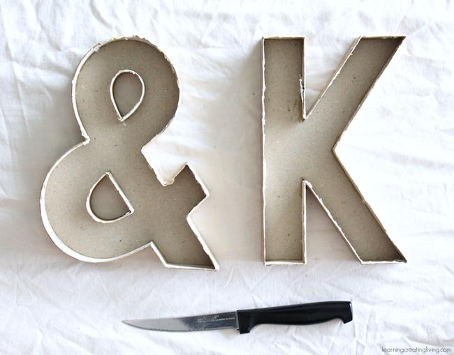 DIY Concrete Letter Molds
