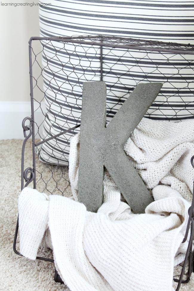 DIY Concrete Letter K