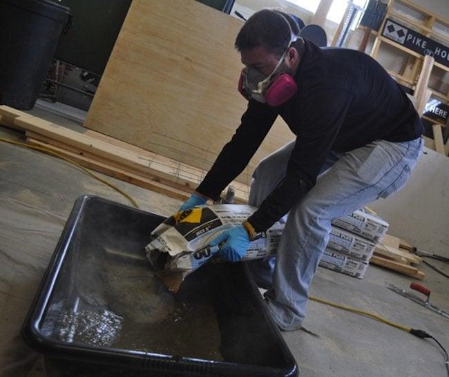 Pouring DIY Concrete Counter
