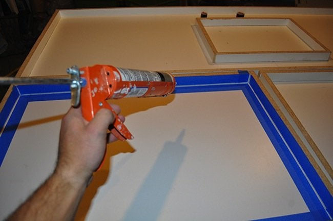 Caulking DIY Concrete Table