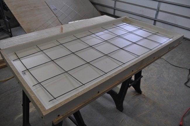 Wire Re-enforcement for DIY Concrete Table
