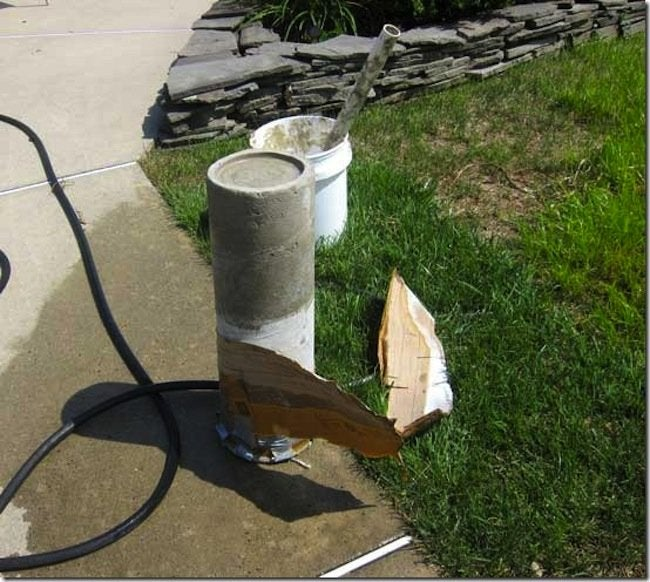 Dried DIY Concrete Candle Holder