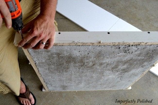 Demold DIY Concrete Countertops