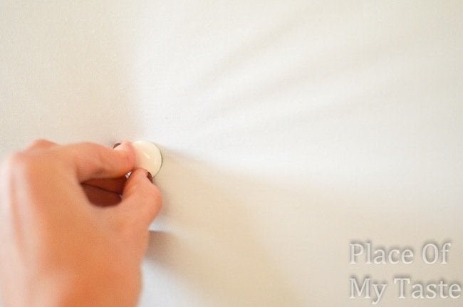 DIY Headboard Tufted Buttons