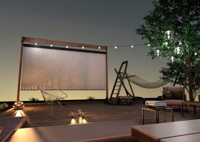 diy outdoor projector screen ideas