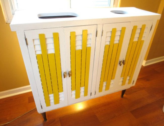 DIY Recyling Bins - Converted Cabinet
