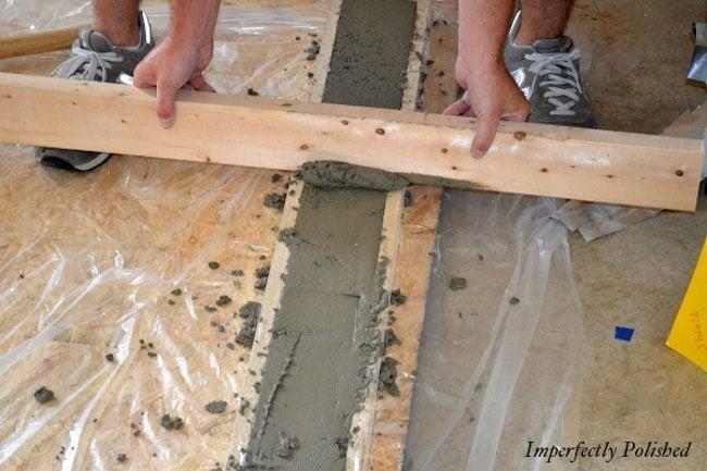 Screed DIY Concrete Countertops