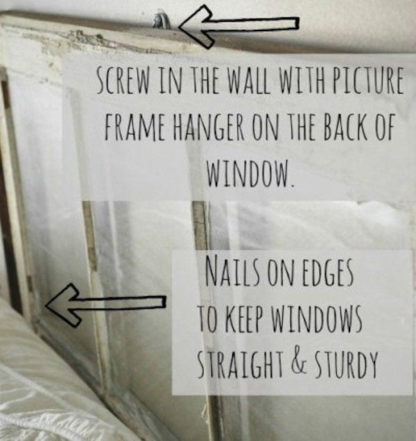 Screw in DIY Window Headboard