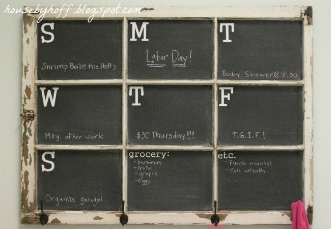DIY Calendar - Chalkboard Window