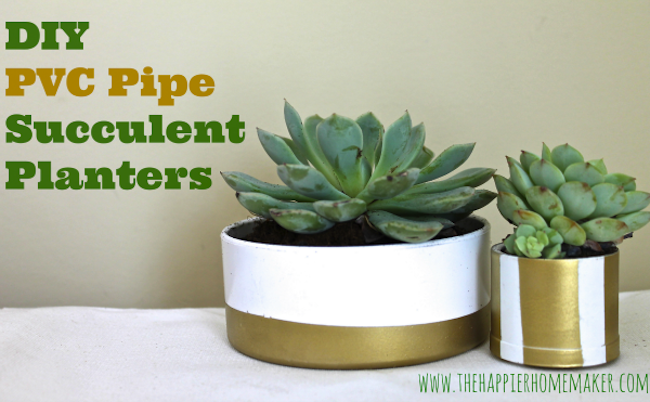 DIY PVC Pipe Planters How to
