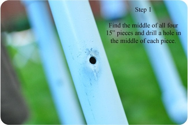 Drill hole in PVC pipes