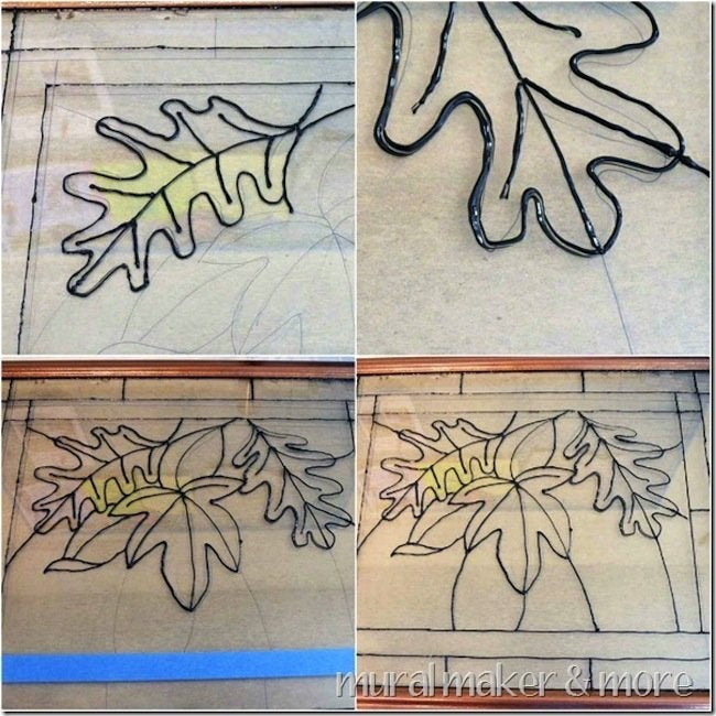 DIY Faux Stained Glass - Leading
