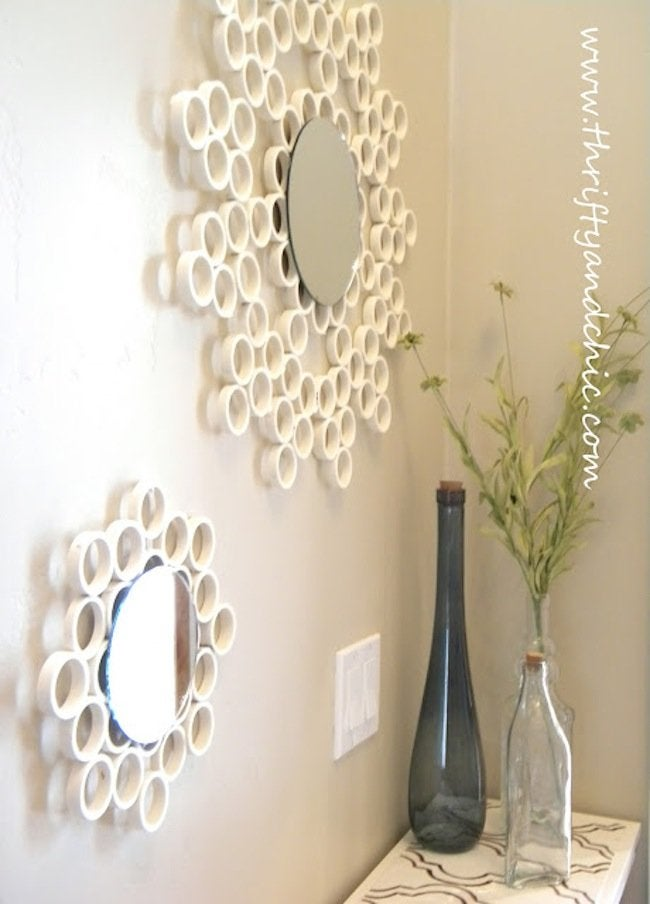 Finished PVC Pipe Mirror