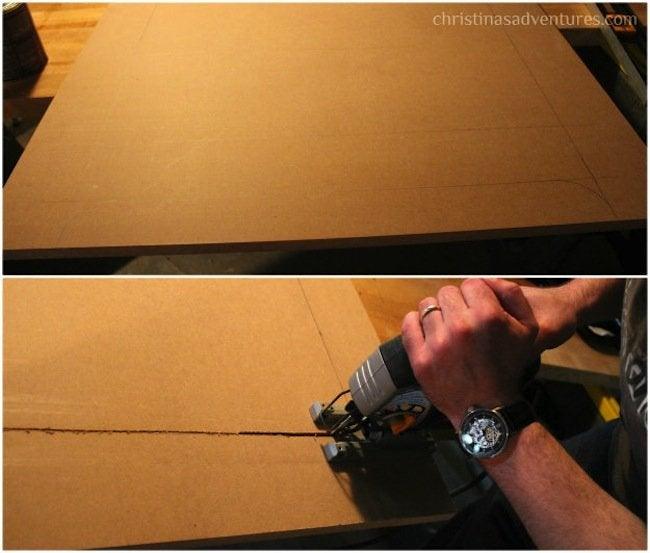 DIY Radiator Cover - Cutting MDF