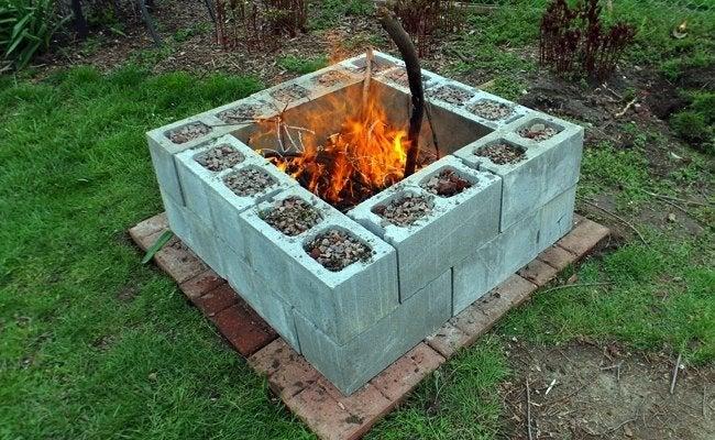 DIY Fire Pit - Cinder Blocks