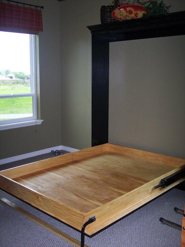 DIY Murphy Bed - Open