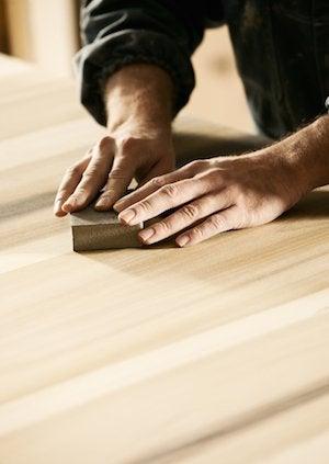 How to Clean Butcher Block - Sanding Counter