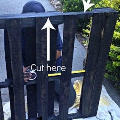 DIY Pallet Bench - Complete