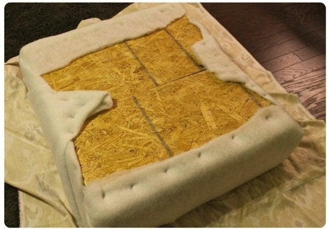 DIY Pallet Ottoman - Foam