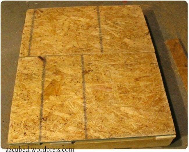 DIY Pallet Ottoman - Plywood