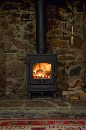 Heating with Wood Stove - Installed Detail