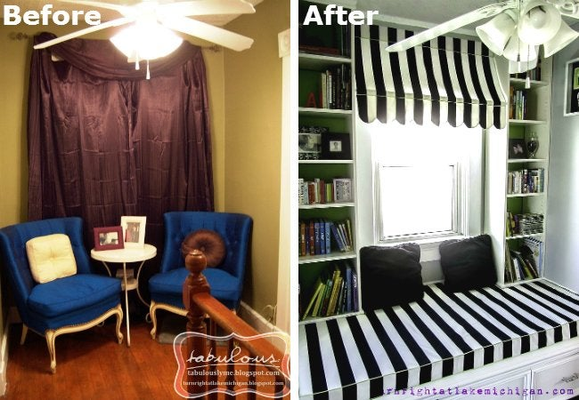 DIY Reading Nook - Before and After