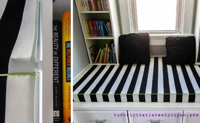 DIY Reading Nook - Close Look