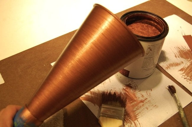 DIY Gramophone - copper patina