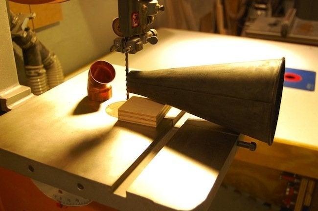 DIY Gramophone - funnel