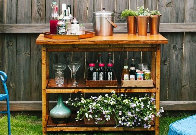 DIY Bar Carts - Woodworking