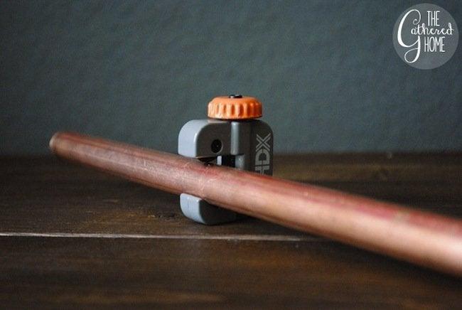 DIY Copper Light - Pipe Cutter