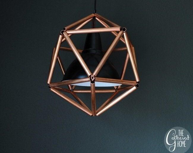 DIY Copper Pipe Icosahedron Light