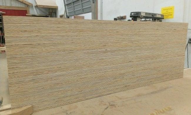 DIY Plywood Desk - cut pieces