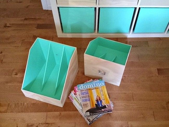 DIY Magazine File - Completed Rack