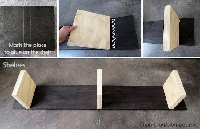 DIY plywood bookcase - step 7