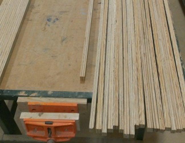 DIY plywood desk - cutting