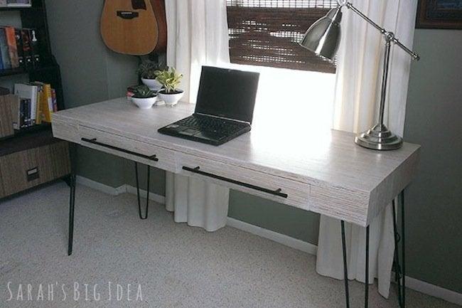 DIY plywood desk - finished work