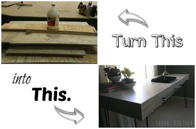 DIY plywood desk - plan