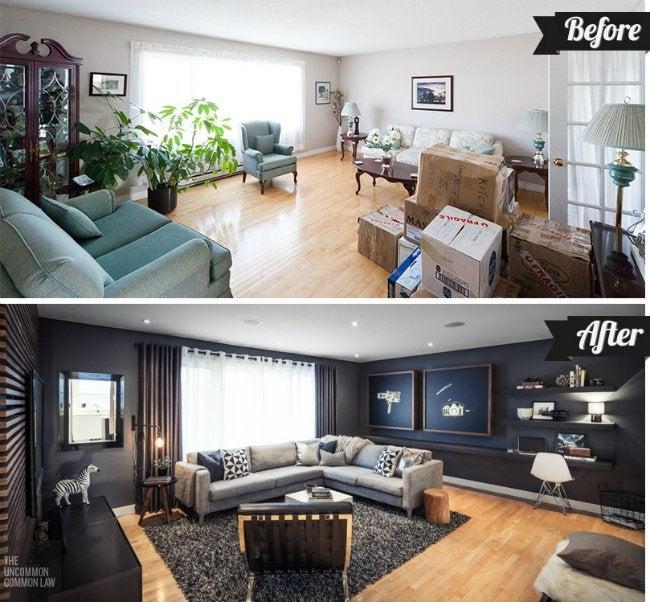 Living Room Makeover - Room Complete
