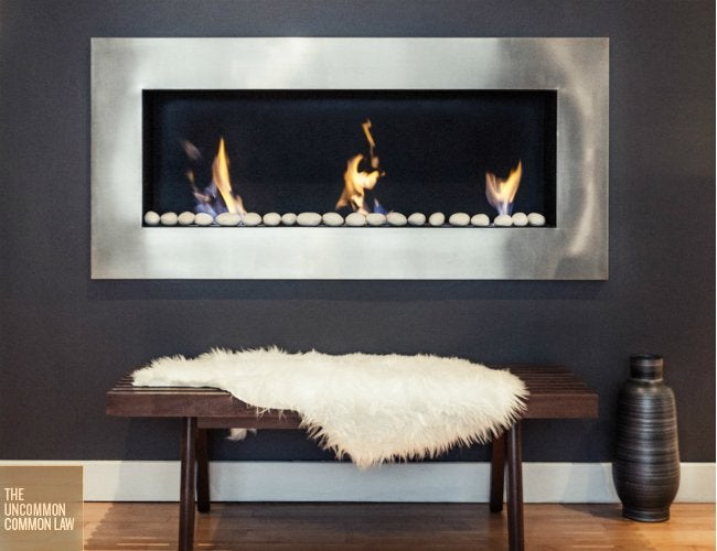 Living Room Makeover - Gas Fireplace