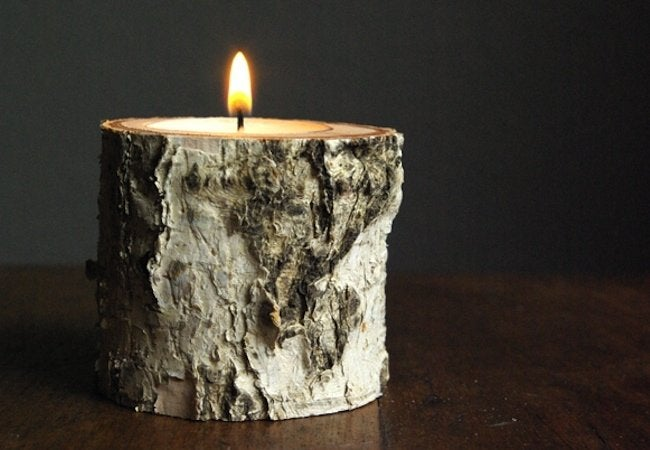 DIY Candle Holders - Birch