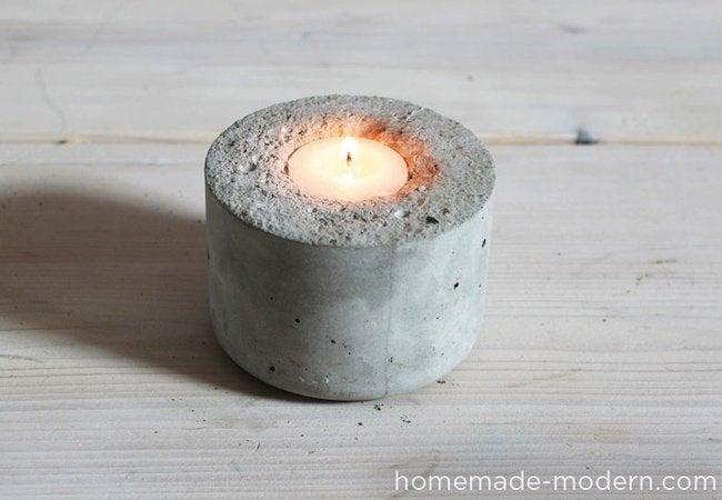 DIY Candle Holder - Concrete