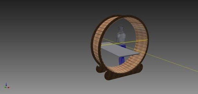 design - hamster wheel desk